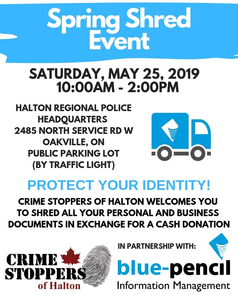Halton Crime Stoppers - shred events
