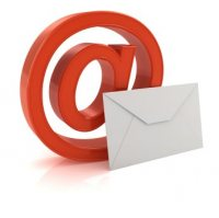 E-mail mailing list @ sign icon