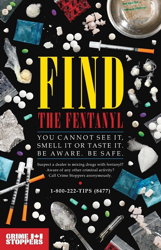 Find the Fentanyl Crime Stoppers poster