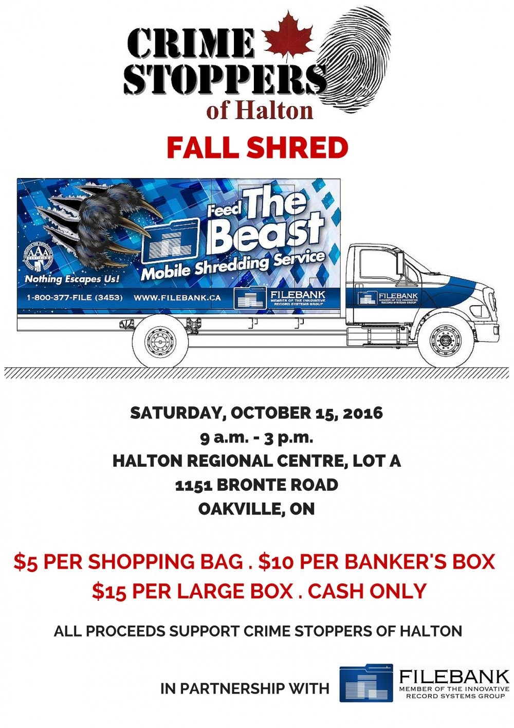 Crime Stoppers of Halton Fall Shred